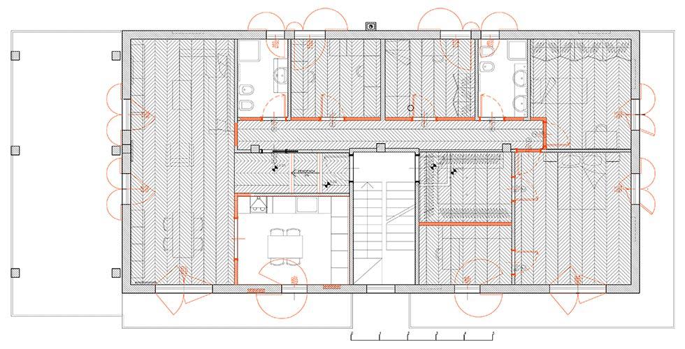 Ristrutturazione a prezzo fisso con unione di due appartamenti - pianta