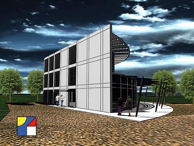edificio Commerciale direzionale uscita autostrada Cattolica - prospetto ovest