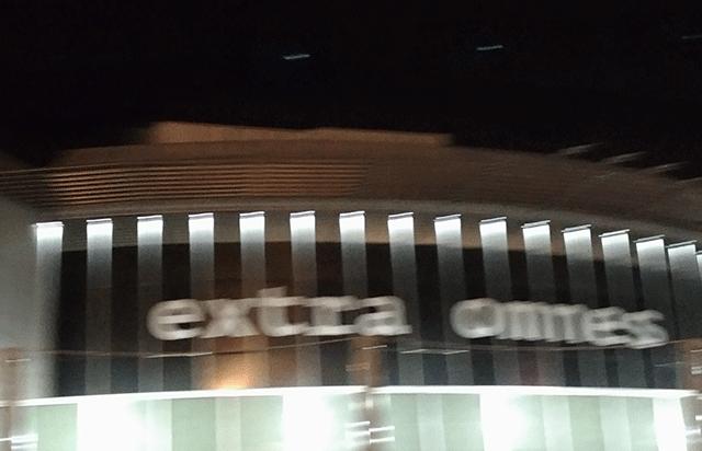 Vista notturna del prospetto principale - Dettaglio