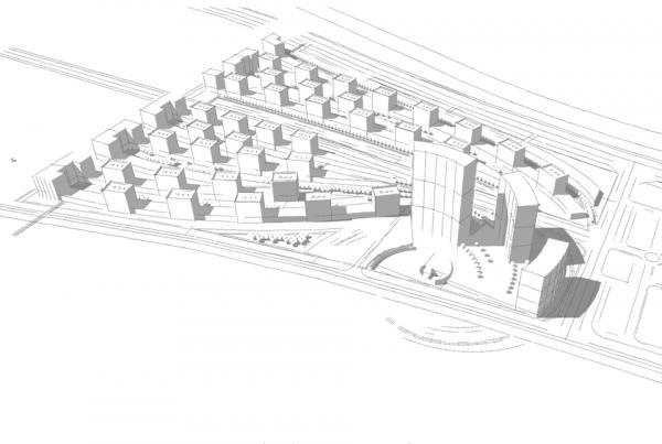 IPC vista aerea, in primo piano il centro direzionale