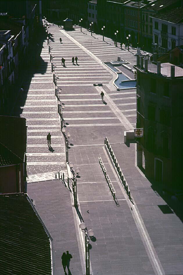 Piazza Ferretto vista dalla torre civica