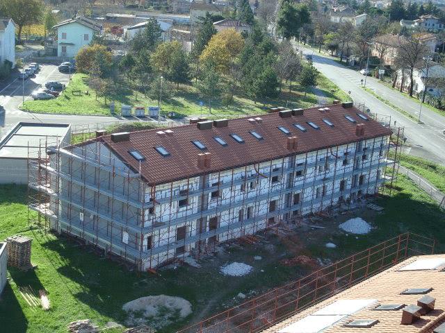 """Blocco """"C"""", vista aerea delle 6 unità immobiliari"""