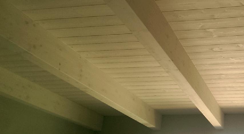 La finitura del solaio di copertura
